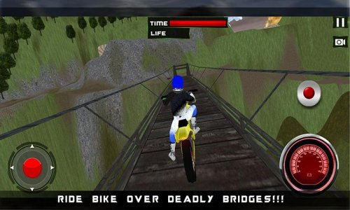 Dirt Bike Racer Up Hill 3D Sim