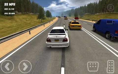 Freeway Traffic Rush