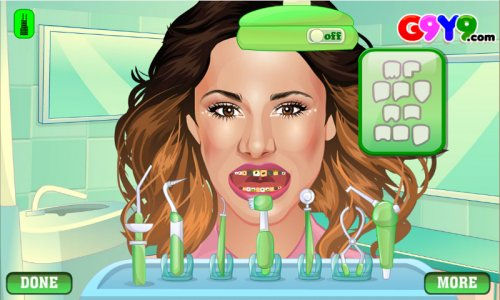 girl dentist surgery