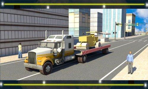 Heavy Crane Transporter Truck