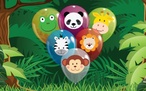 Animal Balloon Pop for Babies