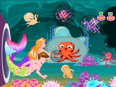 Mermaid Story Kissing Games