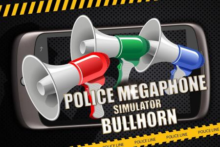 Police megaphone bullhorn