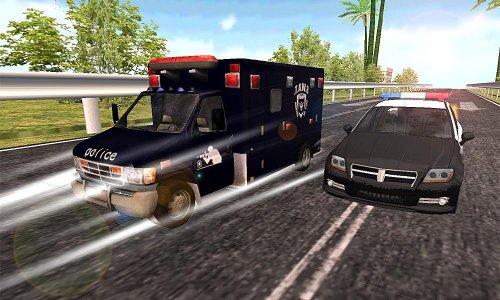 swat polis arabası