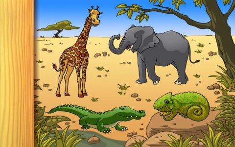 Wild Animals Puzzle LITE
