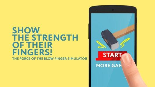 Force finger blow simulator