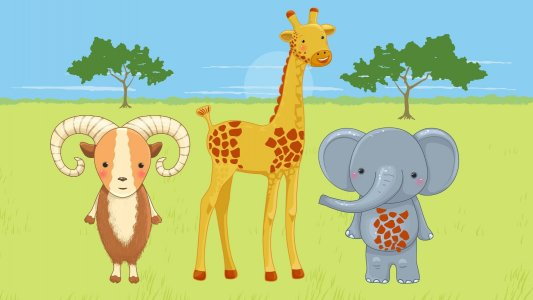 Funny Animals! Game for babies