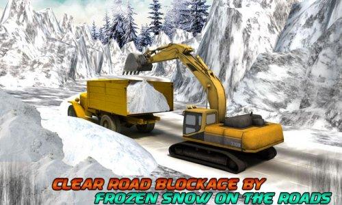 Winter Snow Rescue Excavator