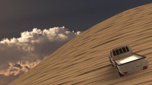 4x4 desert hill climb