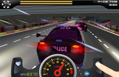 police auto chase drag racing