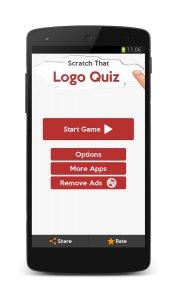 Scratch Logo Quiz. Challenging brain puzzle.