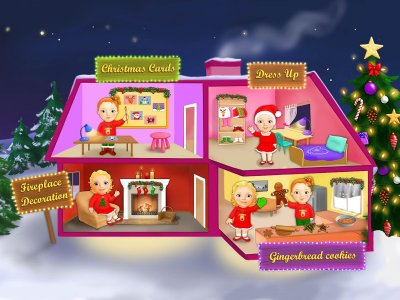 Sweet Baby Girl Christmas Town
