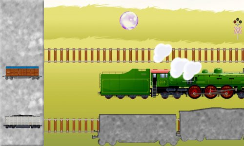 รถไฟปริศนาลูกอม สำหรับเด็กเล็ก