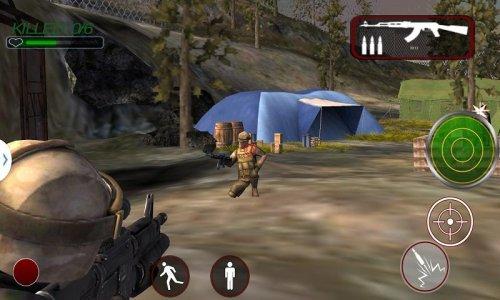 Warrior in Terrorist Base Camp