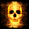 Burning Fire Skull Head