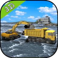 Heavy Excavator - Flood Rescue