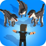 Jurassic Hopper: Crossy Dinosaur Shooter Game