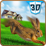 Pet Rabbit Vs Stray Dog 3D