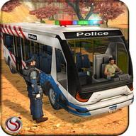 Police Bus Uphill Driving