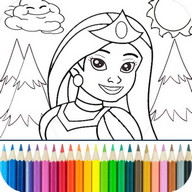 Princesa Colorear