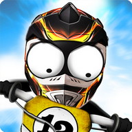 Stickman Downhill - Motocross - 2D motocross racing