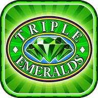 Triple Emeralds Deluxe - An emerald green casino game