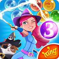 Bubble Witch Saga 3 - Help the good witch defeat the evil Wilbur