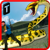 Angry Anaconda Attack 3D - Become a dangerous anaconda and attack your prey!