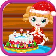 Kek bayi christmas permainan