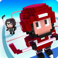 Blocky Hockey - Ice Runner - Dodge your opponents and win hockey games