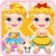 ฝาแฝดอาบน้ำเกมเด็ก