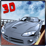 City Racing Futuristic Car 3D