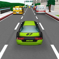 Car Traffic Race - Race through the middle of crowded city traffic