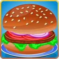 Cooking Tasty Hamburger