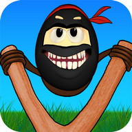 Crazy Ninja Egg: Clumsy Jump
