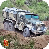 exérci montanha carga caminhão
