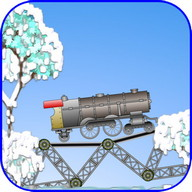 Railway bridge (Free) - Build a bridge to get the train to the next level