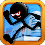 Stickman Roof Running
