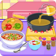 Vegetarian chil cooking game