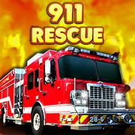 911 fire rescue truck 2016 3d