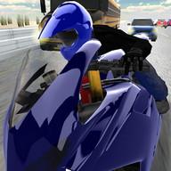 Desert Traffic Racer Motorbike
