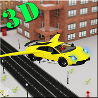 Flying Sports Car Racing 3D