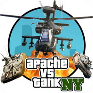 GTA Apache vs Tank in New York - Helicopters against tanks in a final duel