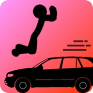 Stupid! Jump Over Speeding Car