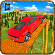 Impossible Wooden Tracks Car Driving 2017