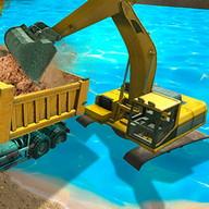 Simulation, pelleteuse à sable 3D