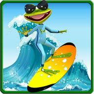 Surfer Frog - Summer Sports
