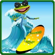 Surfer Frog - Summer Sports