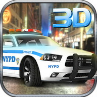 Police Pilote Voiture Chase 3D