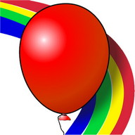 Kids game Balloons Rainbow